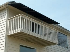 Residential canvas patio canopy