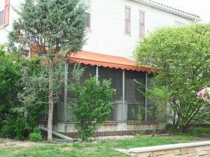 Screen porch with canvas patio top