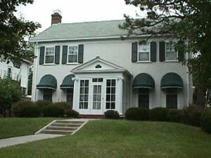 Residential dome awnings with scalloped valances in Minnesota