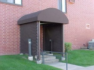 Half Barrel Canopy with Side Curtains