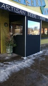 Keep out the cold with a seasonal vestibule entryway by Acme Awning