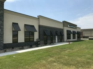 Commercial building gets an upgrade with standing seam sheet metal awnings