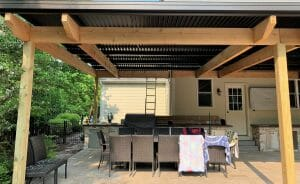 Motorized Louvered Roof: Open