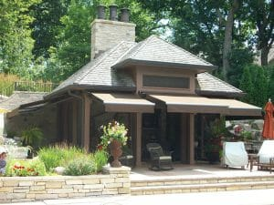 Retractable awnings by Acme Awning create wonderful outdoor spaces