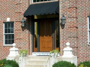Brick Home with Awning