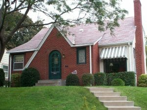 Classic Awning Brick home