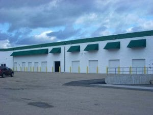 Dock with Awnings