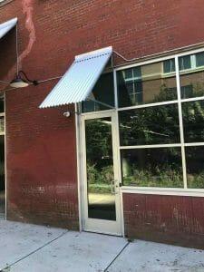 Metal Awning Entry Door