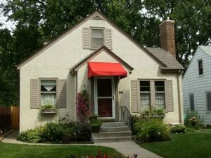 Minneapolis Red Entry Awning
