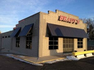 Sheet Metal Commercial Awning